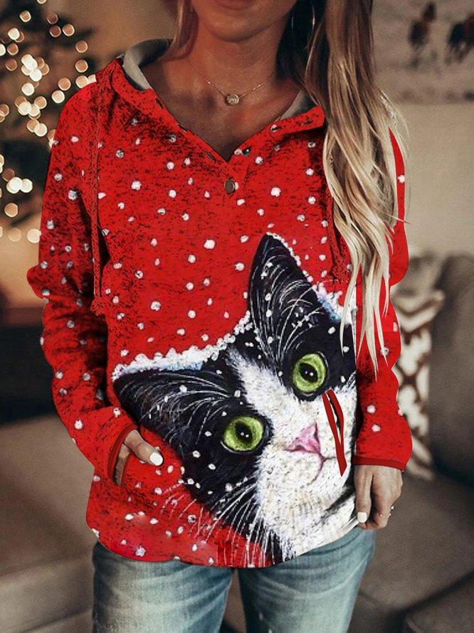 Christmas Cat Women Hoodie & Sweatshirt