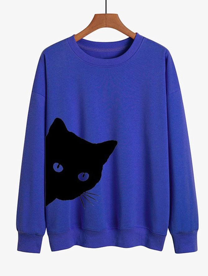 Cat Print Women Sweatshirt, Our Favorite Hoodies for Cat Lovers