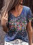 Floral V Neck Floral-Print Women Casual Shirt & Top