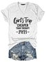 Girls Trip Cheaper Than Therapy 2021 T-Shirt Tee with Funny Saying