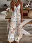 Boho Floral Printed dyed Dress Summer Maxi Dress