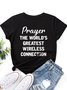 Prayer The World's Greatest Connection Crew Neck T-Shirt
