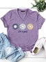 Sunflower V Neck Women's T-Shirt Top